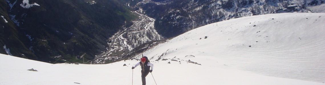 Scialpinismo Canale delle Capre - profilo