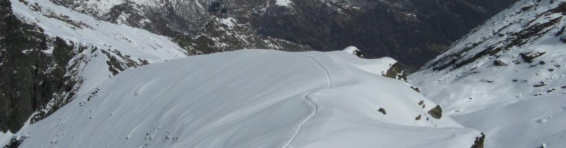 Scialpinismo Cornetti Paschiet - profilo